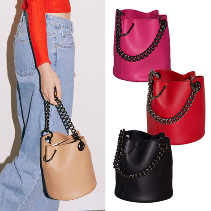 Casual Style Chain Plain Party Style Elegant Style Handbags