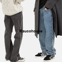 Raucohouse Plain Oversized Jeans & Denim