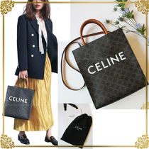 CELINE Triomphe Canvas Unisex Canvas A4 3WAY Office Style Totes