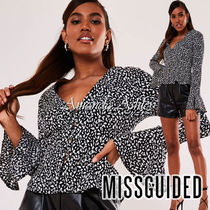 Missguided Casual Style Long Sleeves Medium Puff Sleeves