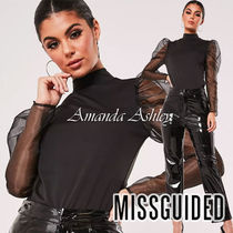 Missguided Long Sleeves Plain Medium Party Style Puff Sleeves