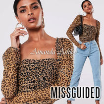 Missguided Leopard Patterns Casual Style Long Sleeves Medium