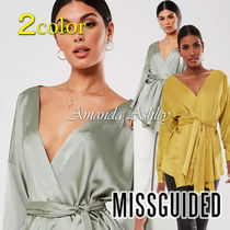 Missguided Long Sleeves Plain Party Style Elegant Style