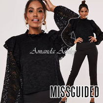Missguided Casual Style Long Sleeves Medium Party Style Puff Sleeves