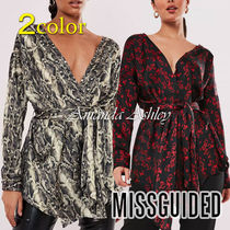 Missguided Casual Style Long Sleeves Party Style Python