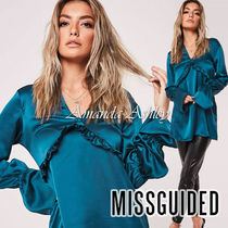 Missguided Long Sleeves Plain Long Party Style Shirts & Blouses