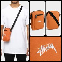 STUSSY Unisex Street Style Collaboration Shoulder Bags