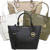 Michael Kors 2WAY Plain Leather Totes