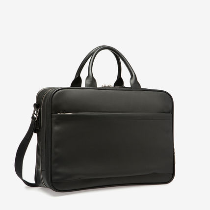 A4 2WAY Plain Leather Logo Business & Briefcases