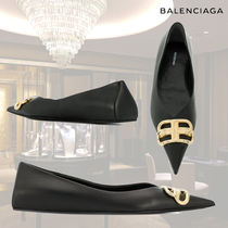 BALENCIAGA Leather Pointed Toe Shoes