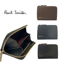 Paul Smith Stripes Unisex Leather Card Holders