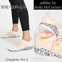 adidas by Stella McCartney Leopard Patterns Round Toe Rubber Sole Lace-up Casual Style