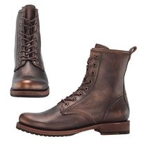 FRYE Lace-up Casual Style Plain Leather Lace-up Boots
