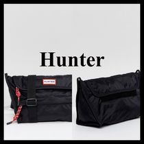 HUNTER Casual Style Unisex Street Style Plain Shoulder Bags