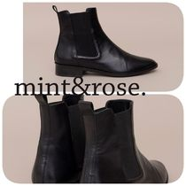 mint&rose. Plain Toe Casual Style Leather Elegant Style Boots Boots