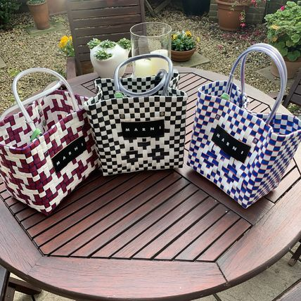 Casual Style Blended Fabrics Handbags