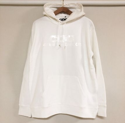 COMME des GARCONS Hoodies Pullovers Unisex Street Style Long Sleeves Cotton Logo 8