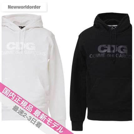 COMME des GARCONS Hoodies Pullovers Unisex Street Style Long Sleeves Cotton Logo