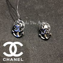 CHANEL Casual Style Blended Fabrics Street Style Chain Handmade