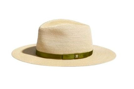 CHANEL Blended Fabrics Straw Hats