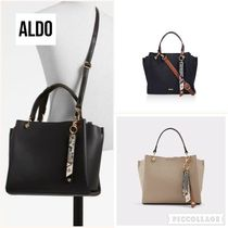 ALDO Casual Style Faux Fur 2WAY Plain Office Style Totes