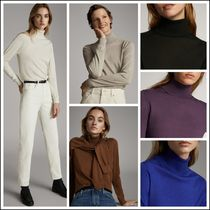 Massimo Dutti Casual Style Silk Long Sleeves Plain Medium Turtlenecks