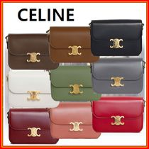 CELINE Casual Style Calfskin 2WAY Leather Elegant Style Crossbody