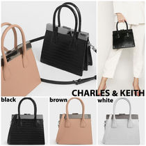 Charles&Keith Casual Style Blended Fabrics 2WAY Plain