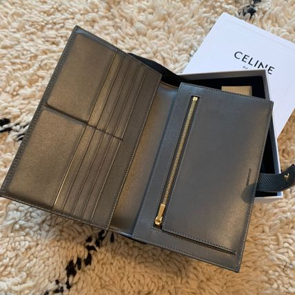 CELINE Long Wallets Plain Leather Long Wallets 3