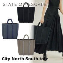 State of Escape Casual Style Plain Handmade Elegant Style Totes