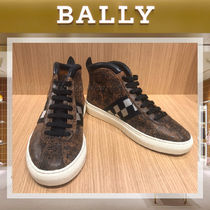 BALLY Other Check Patterns Plain Leather Sneakers