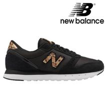 New Balance Leopard Patterns Round Toe Lace-up Casual Style Street Style