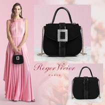 Roger Vivier Casual Style Blended Fabrics 2WAY Plain Party Style