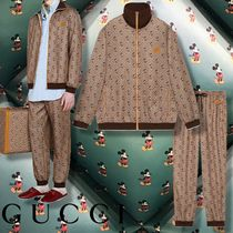 GUCCI 【GUCCI】 Disney x Gucci oversize jacket & loose track bottoms
