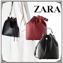 ZARA Casual Style Plain Office Style Elegant Style Shoulder Bags