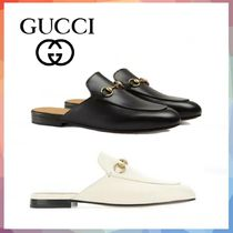 GUCCI Casual Style Leather Slip-On Shoes