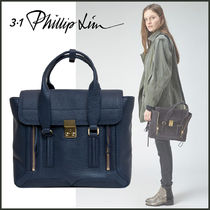 3.1 Phillip Lim Casual Style Calfskin 2WAY Plain Leather Office Style