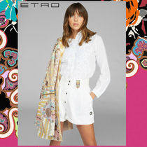 ETRO Paisley Long Sleeves Cotton Elegant Style Shirts & Blouses