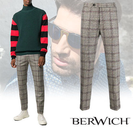 Tapered Pants Other Plaid Patterns Wool Tapered Pants