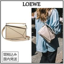 LOEWE PUZZLE Casual Style 2WAY Plain Party Style Office Style
