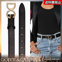 Dolce & Gabbana Casual Style Blended Fabrics Street Style Plain Leather