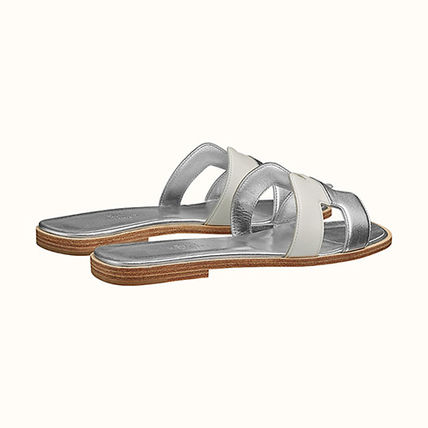 HERMES More Sandals Open Toe Casual Style Leather Elegant Style Sandals Sandal 3