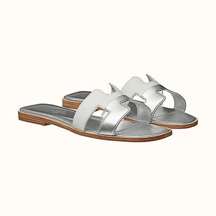 HERMES More Sandals Open Toe Casual Style Leather Elegant Style Sandals Sandal 4