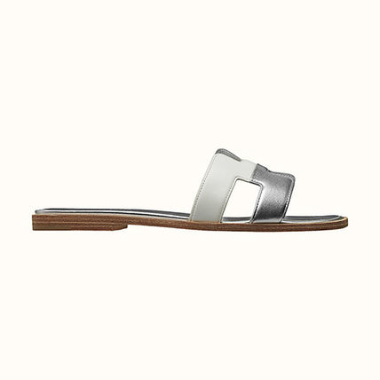 HERMES More Sandals Open Toe Casual Style Leather Elegant Style Sandals Sandal 5