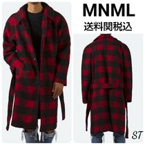 MNML Other Plaid Patterns Street Style Long Front Button