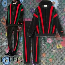 GUCCI 【GUCCI】 Chenille hooded sweatshirt & Loose track bottoms