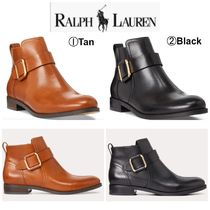 Ralph Lauren Casual Style Plain Chunky Heels Ankle & Booties Boots