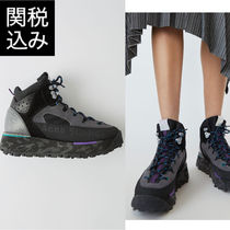 Acne Camouflage Platform Round Toe Lace-up Casual Style Suede