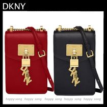 DKNY Casual Style Leather Elegant Style Shoulder Bags