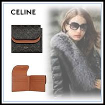 CELINE Triomphe Calfskin Blended Fabrics Home Party Ideas Folding Wallets
